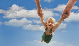 Flying baby Stock Image