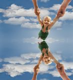 Flying baby Royalty Free Stock Images