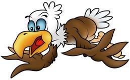Flying Bald Eagle. Colored cartoon illustration royalty free illustration