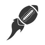 Flying ball american football icon. Illustration eps 10 Stock Photography