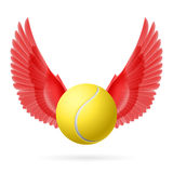 Flying ball Stock Photography