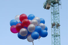 Flying ballons. At the berlin potsdammer platz stock image