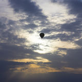 Flying in a balloon Royalty Free Stock Image