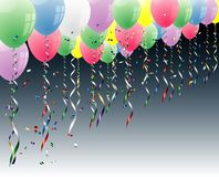Flying balloons. Vector party background with balloons Royalty Free Stock Image