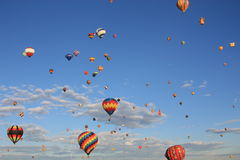 Flying balloons Royalty Free Stock Images