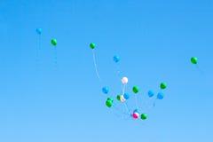 Flying balloons Stock Photos