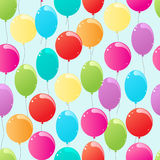 Flying balloons Stock Image