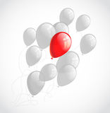 Flying balloons. Abstract vector background Royalty Free Stock Photos