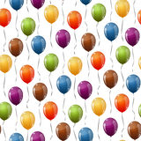 Flying balloons background seamless Stock Photos
