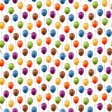 Flying balloons background seamless Royalty Free Stock Image