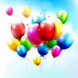 Flying balloons Stock Images