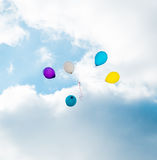 Flying balloons Royalty Free Stock Photo