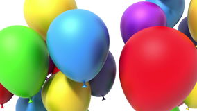 Flying balloons stock footage