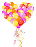Flying Balloons Heart Royalty Free Stock Photos