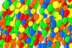 Flying balloons illustrations background abstract, hand drawn. Texture, cover, surface & creative. Flying balloons illustrations background abstract, hand drawn Stock Images