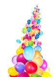 Flying balloons isolated Stock Photo