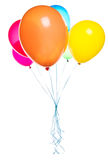 Flying balloons isolated Stock Photo