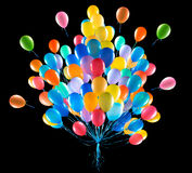 Flying balloons isolated Royalty Free Stock Photo