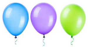 Flying balloons isolated. On a white background Royalty Free Stock Images