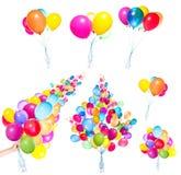 Flying balloons isolated Stock Image