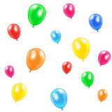 Flying balloons. Isolated on white background, illustration Stock Images