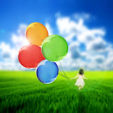 Flying balloons Royalty Free Stock Image