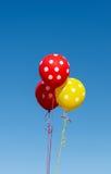 Flying balloons with polka dot Stock Photo