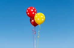 Flying balloons with polka dot Royalty Free Stock Photography
