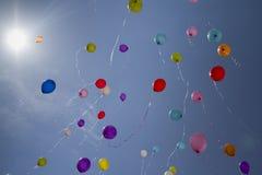 Flying balloons Stock Photo