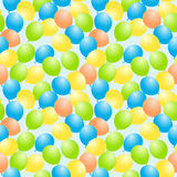 Flying balloons seamless background Stock Images