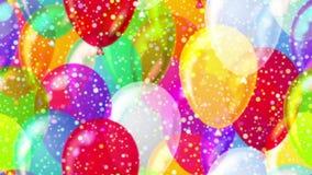 Flying balloons, seamless loop stock video footage