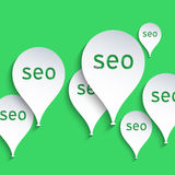 Flying balloons. SEO, Search Engine Optimization concept Royalty Free Illustration