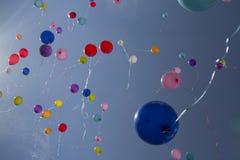 Flying balloons Royalty Free Stock Photo