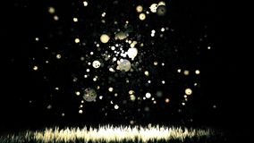 Flying balls gold stock video footage