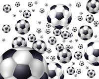 Flying Balls - Soccer Stock Photography