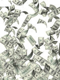 Flying banknotes of dollars Royalty Free Stock Photo