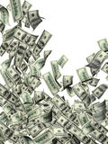 Flying banknotes of dollars Stock Images