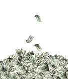 Flying banknotes of dollars Royalty Free Stock Images