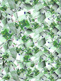 Flying banknotes of euro Royalty Free Stock Photo