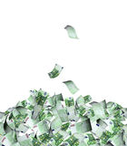 Flying banknotes of euro Royalty Free Stock Photography