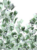 Flying banknotes of euro Royalty Free Stock Images