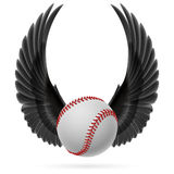 Flying baseball Royalty Free Stock Photos