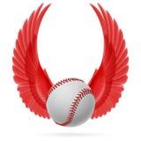 Flying baseball Royalty Free Stock Image