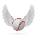 Flying baseball Royalty Free Stock Photo