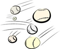 Flying Baseballs Stock Image
