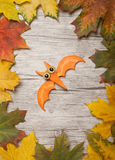 Flying bat made of carrot stock photography
