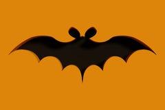Flying bat on orange background Stock Images