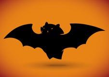 Flying Bat Silhouette, Vector Illustration Stock Photos