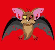Flying bat the vampire. Stock Photo