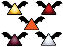 Flying bat wing icons Stock Photography